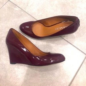 Coach Patent Leather Wedges